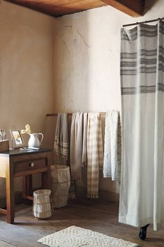 Turkish towels and canvas framed baskets