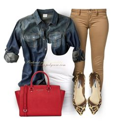 """Casual Leopard"" by casuality ❤ liked on Polyvore featuring Monkee Genes, Mossimo, Soaked in Luxury, Steve Madden and Michael Kors"