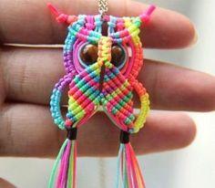Macrame Owl Necklace Instructions Video