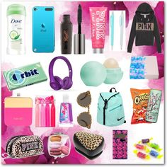 "School Emergency Kit For Girls! ❤️🏫💎💎 Hope you like this as much as I do! ""School Emergency Kit For Girls! School Kit, Back To School Supplies, Back To School Ideas For Teens, 6th Grade School Supplies, Back To School Organization For Teens, School Bags, Schul Survival Kits, Survival Guide, Survival Quotes"