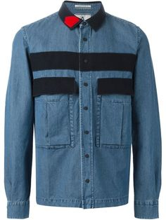 Shop Andrea Pompilio panelled denim shirt  in Luisa Boutique from the world's best independent boutiques at farfetch.com. Shop 300 boutiques at one address.
