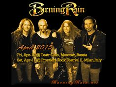 Burning Rain - Gigs in Europe in April 2015