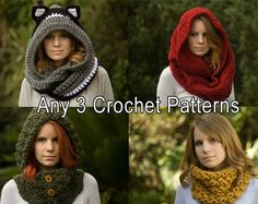 Crochet patterns discount package Choose any 3 patterns. by goolgool | Etsy