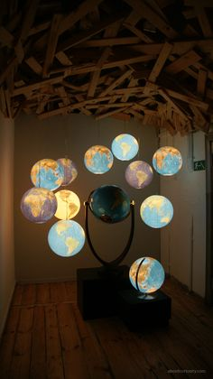 globes in a room                                                                                                                                                                                 More