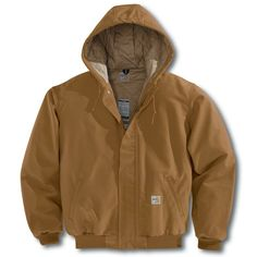 carthart | Carhartt FRJ184 Men's Flame Resistant Quilt Lined Duck Active Jacket