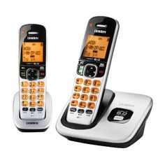 D17602 DECT 60 Expandable Cordless Phone with Caller ID Silver 2 Handsets >>> Want additional info? Click on the image.
