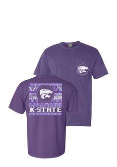 K-State Wildcats Womens Comfort Color Unisex - Purple