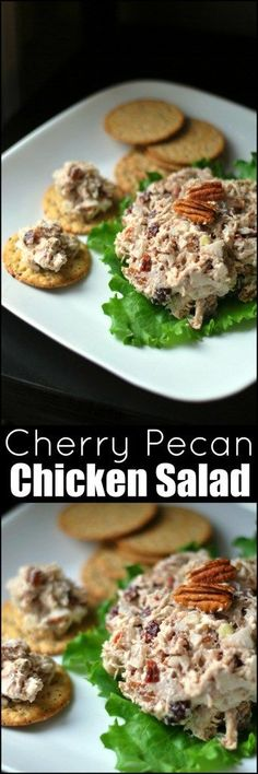 This Cherry Pecan Chicken Salad is only 5 ingredients and AMAZING!  I just whipped up a big batch for lunches this week!  Yum!