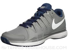 Nike Zoom Vapor 9.5 Tour Grey Navy Men s Shoe 5292c9dad