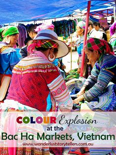 A colour explosion at the Bac Ha Markets in Vietnam. These markets are within driving distance from Sapa and Lao Cai, so if you are heading that way and have a Sunday free, make sure to pay it a visit! Read more on wanderluststorytellers.com.au