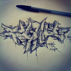 Exchange for @zekwer by atewone #graffiti #sketch #style #blackbook #hiphop…