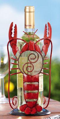 Whimsical Lobster Decorative Wine Bottle Holder