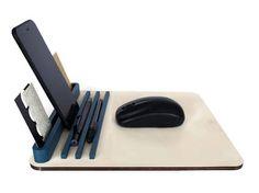 Modern mouse paddesk organizerstandtablet standwood desk Computer Desk Organization, Office Workstations, Work Station Desk, Desk Mat, Tablet Stand, Wood Desk, Laser Cut Wood, Office Accessories, Business Card Holders