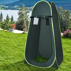 Shop Costway Portable Pop UP Camping Fishing Bathing Shower Toilet Changing Tent Room - Overstock - 16738364 Camping And Hiking, Camping Gear, Camping Hacks, Hiking Gear, Camping Equipment, Camping Storage, Hiking Outdoor, Camping Glamping, Outdoor Gear