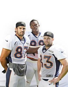 Broncos receivers, from left, Eric Decker, Demaryius Thomas and Wes Welker.  (John Leyba, The Denver Post)