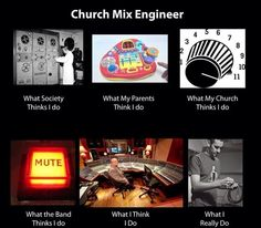 Church Sound Guy Reality vs Perception  #Christian #meme # Christianmeme