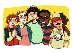 Will, Eleven, Mike, Lucas, and Dustin | Stranger Things