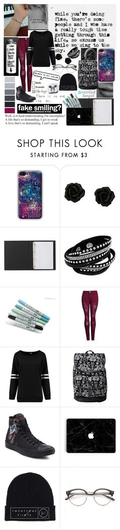 """""""Depression Takes Control And Darkness Washes Over"""" by lyonserenity ❤ liked on Polyvore featuring Disney, Converse and PhunkeeTree"""