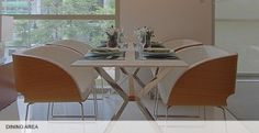 The Dining Table of Madison Park West Model Unit