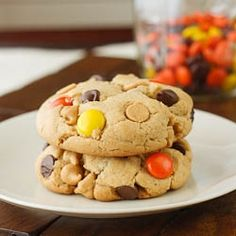 Reeses Pieces Peanut Butter Cookies by laurassweetspot