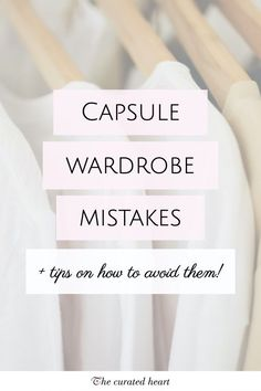 I love my capsule wardrobe! It helped me simplify my life, discover my style, improve my shopping habits and realise to stop caring about what other people think about my outfits. But, as with everything, there is a bit of a learning curve, and I definitely did my fair share of mistakes when curating my wardrobe. So I created a list of the most common mistakes and tips on how to prevent them #minimalism #capsulewardrobe #capsulewardrobemistakes #minimalistcloset #stylemistakes Capsule Wardrobe Work, Capsule Outfits, Fashion Capsule, Minimal Wardrobe, Small Wardrobe, Perfect Wardrobe, Minimalist Closet, Simple Style, My Style