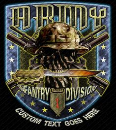 a8a763b652f 1st Infantry Division with Ranger Tab Shield Shirt Army Shirts