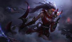 Blood Moon Shen Splash Art League Of Legends Artwork Wallpaper Lol