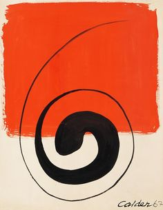 ALEXANDER CALDER Ohne Titel (Plakatentwurf), 1967. Gouache