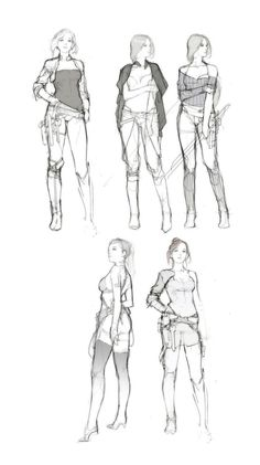 girl sketches...