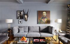 Stephen Kenn sofa at Nick Wooster's apartment via House of Style | Remodelista
