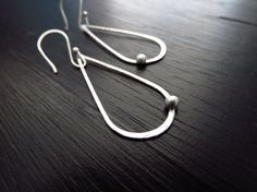 Modern lightweight dangles sterling silver by BLUEskyBLACKbird, $28.00