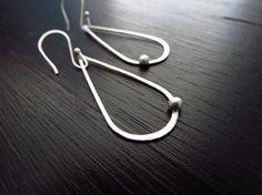 Modern lightweight dangle earrings sterling by BLUEskyBLACKbird, $28.00