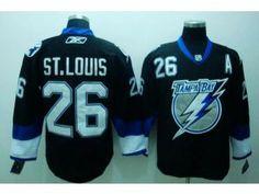 e2b461f24a2 NHL Tampa Bay Lightning  26 Martin St Louis Black Jersey
