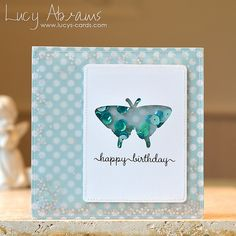 Birthday Butterfly Double Shaker Card wow