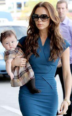 Victoria Beckham and Harper Seven<3