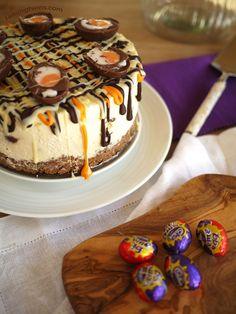 "The ultimate Creme Egg Cheesecake recipe. No bake and utterly delicious. This recipe ""broke the internet"" in 2015, see what all of the fuss is about.."