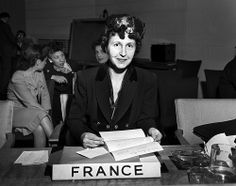 In this picture: Maria Helene Lefaucheus, French Representative on the Commission on the Status of Women of the United Nations Economic and Social Council. Photo Date: February 12th, 1947 Photo credit: UN Photo