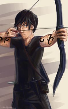 """""""He saw Alec, still atop the tomb; hisface was a stony mask, and he was firingoff arrows with machinelike precision, hishand reaching back mechanically to graspone, fit it to the bow, and let fly. Each onestruck a target, but Alec barely seemed tonotice. By the time the arrow was flying,he was reaching for another one."""" Alec being badass in City of Lost Souls edit: fixed the quiver"""