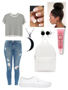 """""""casual saturday"""" by aero1blue on Polyvore featuring Frame Denim, Chicnova Fashion, Vans, Carolina Glamour Collection, Bling Jewelry, Lancôme and PB 0110"""