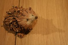 Pinecone hedgehogs... just what I was looking for... super-cute!  Yay!