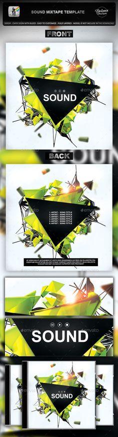 Sound Mixtape CD Cover Template PSD. Download here: http://graphicriver.net/item/sound-mixtape-template/10538062?ref=ksioks