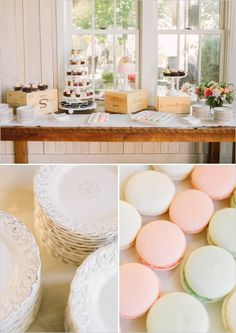 simple dessert table by Moustache Baked Goods