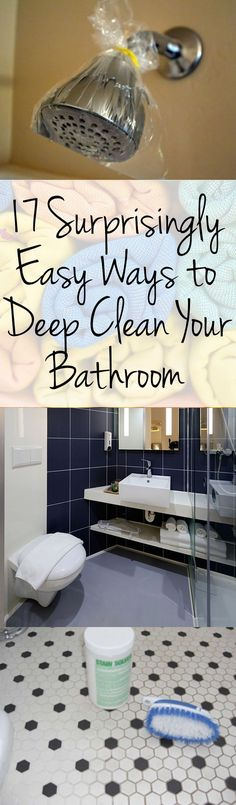 17 Surprisingly Easy Ways to Deep Clean Your Bathroom – Page 19 – Wrapped in Rust #bathroomcleaning