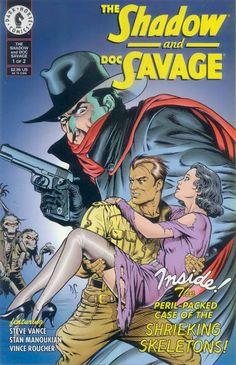 The Shadow & Doc Savage by Dave Stevens