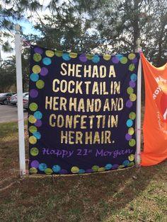 Kate Spade 21st birthday banner