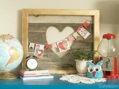 Reclaimed Wood Valentine Sign