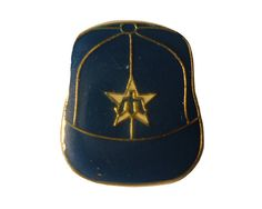 "SEATTLE MARINERS Logo Baseball Cap mlb vintage enamel pin badge WA Washington by VintageTrafficUSA  11.00 USD  A vintage Seattle pin! Excellent condition. Measures: approx 1"" These rare pins are proven to win you friends and influence people! Add inspiration to your handbag tie jacket backpack hat or wall. 20 years old hard to find vintage high-quality cloisonne lapel/pin. Beautiful die struck metal pin with colored glass enamel filling. -------------------------------------------- SECOND…"