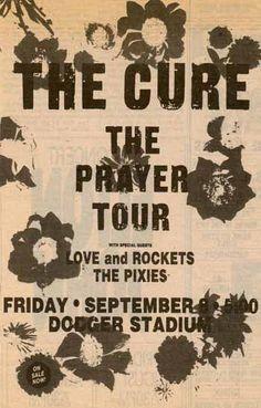 The Cure live concert: 08.09.1989 Los Angeles - Dodger Stadium (USA/CA)
