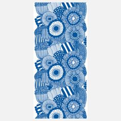 This Siirtolapuutarha 55x118 Blue  my Marimekko is an example of one of the styles of drawing (zentangles, doodles..), I want to do imagery transfer on textiles & canvas.