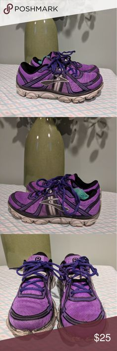 🔨Brooks Pure Flow running shoes These shoes are in decent used condition. Please look at the pictures and judge condition for yourself. These were ran through the washer before listing.  Size 9 Brooks Shoes Athletic Shoes